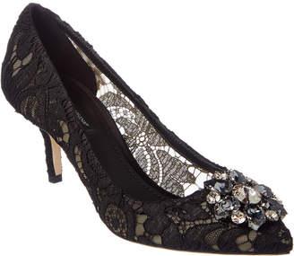 Dolce & Gabbana Bellucci 60 Embellished Taormina Lace Pump