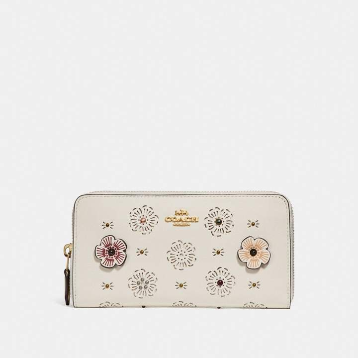 Coach New YorkCoach Accordion Zip Wallet With Cut Out Tea Rose - CHALK/LIGHT GOLD - STYLE