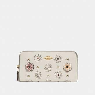 Coach Accordion Zip Wallet With Cut Out Tea Rose