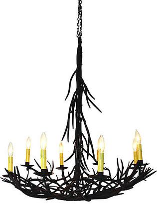 One Kings Lane Twig 8-Light Chandelier - Gilded Iron