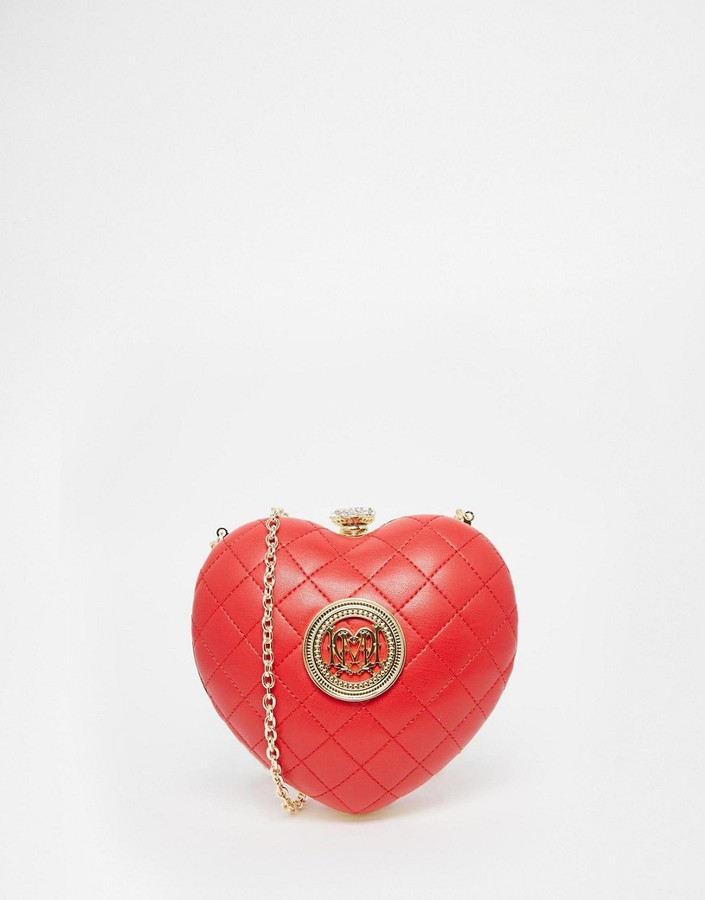 Love Moschino Love Moschino Quilted Red Heart Clutch