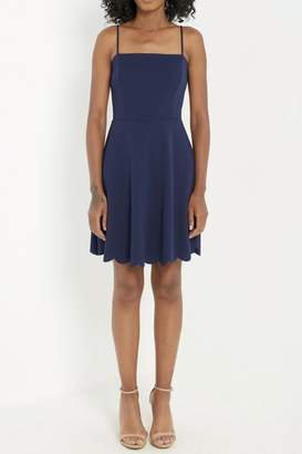Soprano Scalloped Navy Summer-Dress