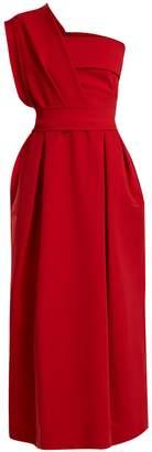 Preen by Thornton Bregazzi Ace one-shoulder stretch-cady midi dress