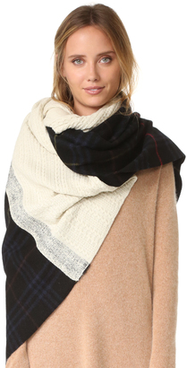 Standard Form Oversized Neo Plaid Scarf $298 thestylecure.com