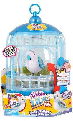 Little Live Pets Tweet Talking Bird W/Cage - Prince Charmer $19.99 thestylecure.com