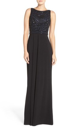 Adrianna Papell Beaded Bodice Jersey Gown $299 thestylecure.com