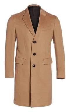 Ermenegildo Zegna Men's Cashmere Topcoat - Camel - Size 52 (42) R