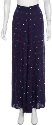 Morgan Lane High-Rise Embroidered Flare Pants