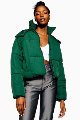 Topshop Hooded Puffer Jacket