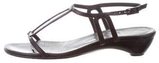 Stuart Weitzman Leather Cutout Sandals