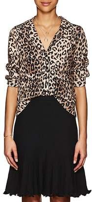 Barneys New York Women's Leopard-Print Silk Blouse