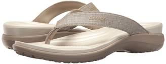 Crocs Capri V Shimmer Flip Women's Slide Shoes
