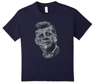 JFK Cool John F Kennedy Text Portrait Shirt