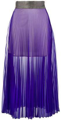 Christopher Kane crystal mesh pleated skirt