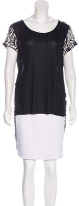 Thomas Wylde Silk-Accented Printed Top