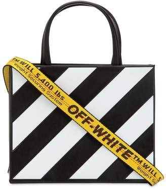 Off-White Off White Mini Diagonal Leather Box Bag