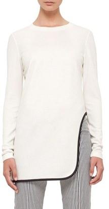 Women's Akris Punto Cutout Hem Jersey Tunic $495 thestylecure.com