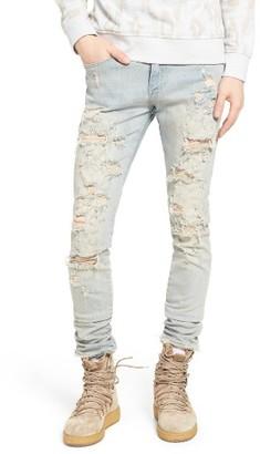 Men's Represent Destroyer Skinny Fit Jeans $125 thestylecure.com
