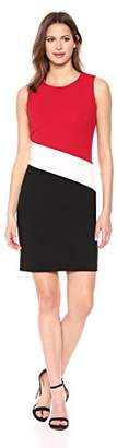 Tommy Hilfiger Women's Scuba Crepe Color Block Sheath