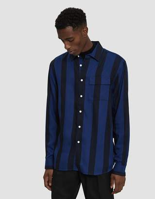 Saturdays NYC Miro Broad Stripe Long Sleeve Shirt