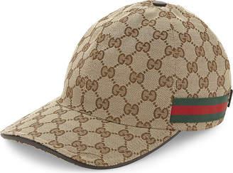 Gucci GG Web stripe baseball cap
