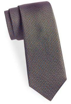 Saks Fifth Avenue Zig-Zag Silk Tie