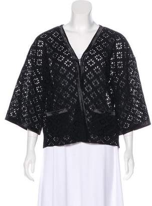 Chanel Silk Open Knit Cardigan