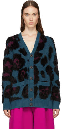 Marc Jacobs Blue V-Neck Cardigan