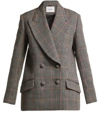 Erdem Jasper Houndstooth Checked Wool Blazer - Womens - Black White