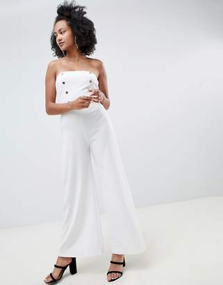 New Look Strapless Tailored Jumpsuit