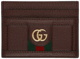Gucci Burgundy Ophidia Card Holder