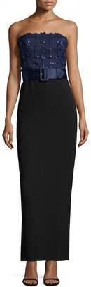 Karl Lagerfeld Women's Strapless Sequin Belt Dress