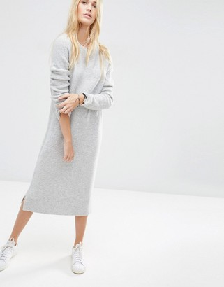 ASOS Midi Sweater Dress in Wool Mix Yarn $68 thestylecure.com