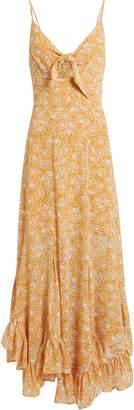 Shona Joy Tie Front Godet Midi Dress