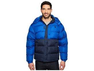 U.S. Polo Assn. Color Block Bubble Jacket Men's Coat
