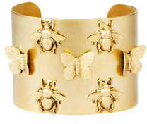 3D Bee & Butterfly Large Cuff Bracelet