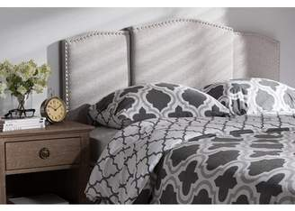 Baxton Studio Allenna Modern and Contemporary Greyish Beige Fabric Twin and Full Size Expandable Headboard