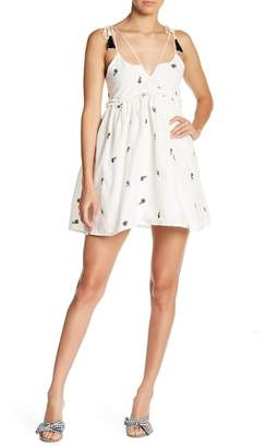 ALLISON NEW YORK Tassel Strap Babydoll Dress