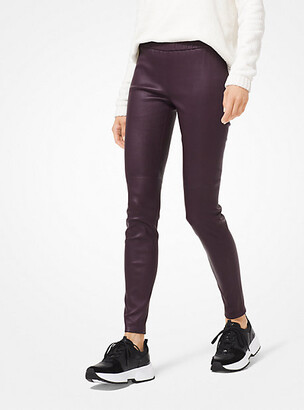 c5ab93d7095adc MICHAEL Michael Kors Stretch-Leather Leggings
