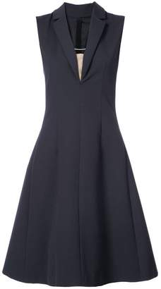 Paule Ka V-neck flared dress