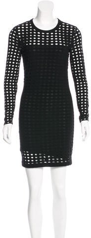 Alexander WangT by Alexander Wang Open Knit Mini Dress