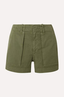 Nili Lotan Cotton-blend Twill Shorts - Army green