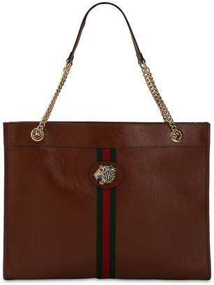 Gucci LARGE RAJAH LEATHER TOTE BAG