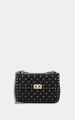 Valentino Women's Rockstud Medium Leather Shoulder Bag - Black