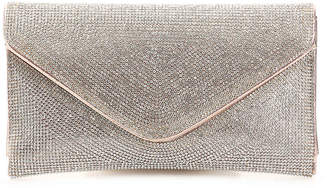 Women's Rhinestone Envelope Clutch -Rose Gold Metallic $68 thestylecure.com