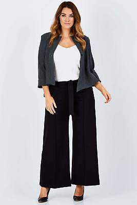 NEW bird by design Womens Pants The Wide Leg Ponte Pant Black Bottoms