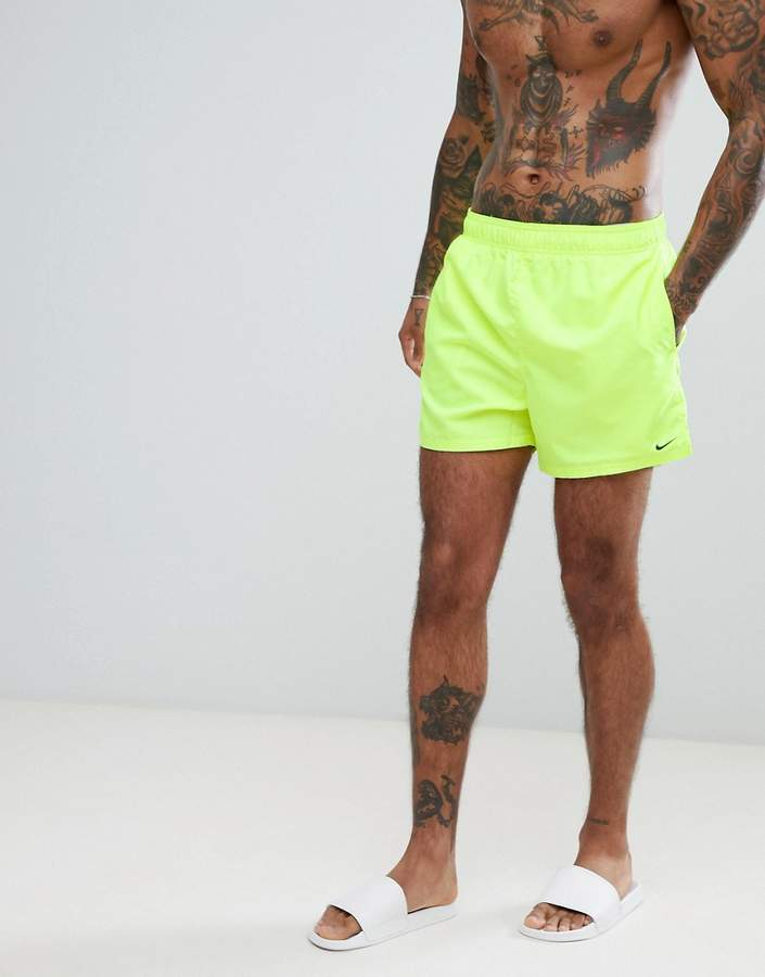 8fbacf05c41 Nike Swimming Volley Super Short Swim Short In Yellow NESS8509-737 -  ShopStyle