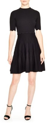Women's Sandro Fit & Flare Knit Dress $470 thestylecure.com