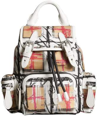 Burberry The Small Crossbody Rucksack in Scribble Check