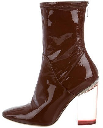 Christian Dior Lucite Ankle Boots